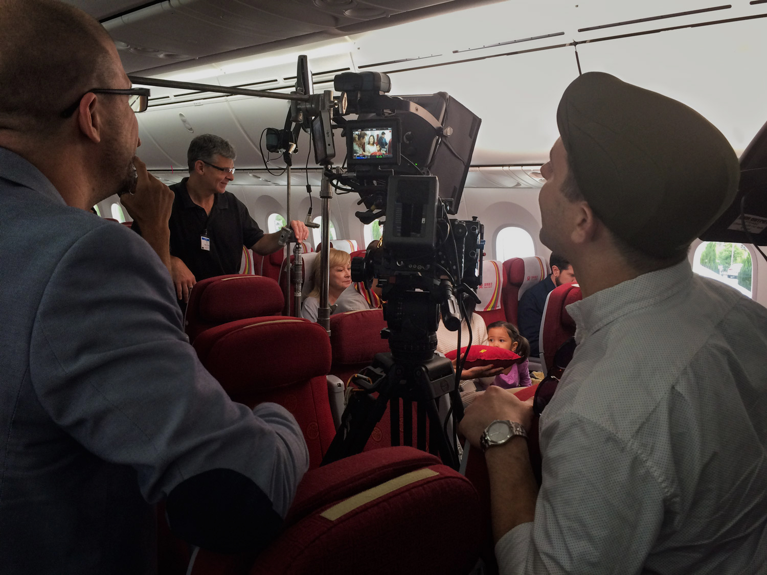Videographers create the perfect shot during a public affairs campaign for Hainan Airlines.