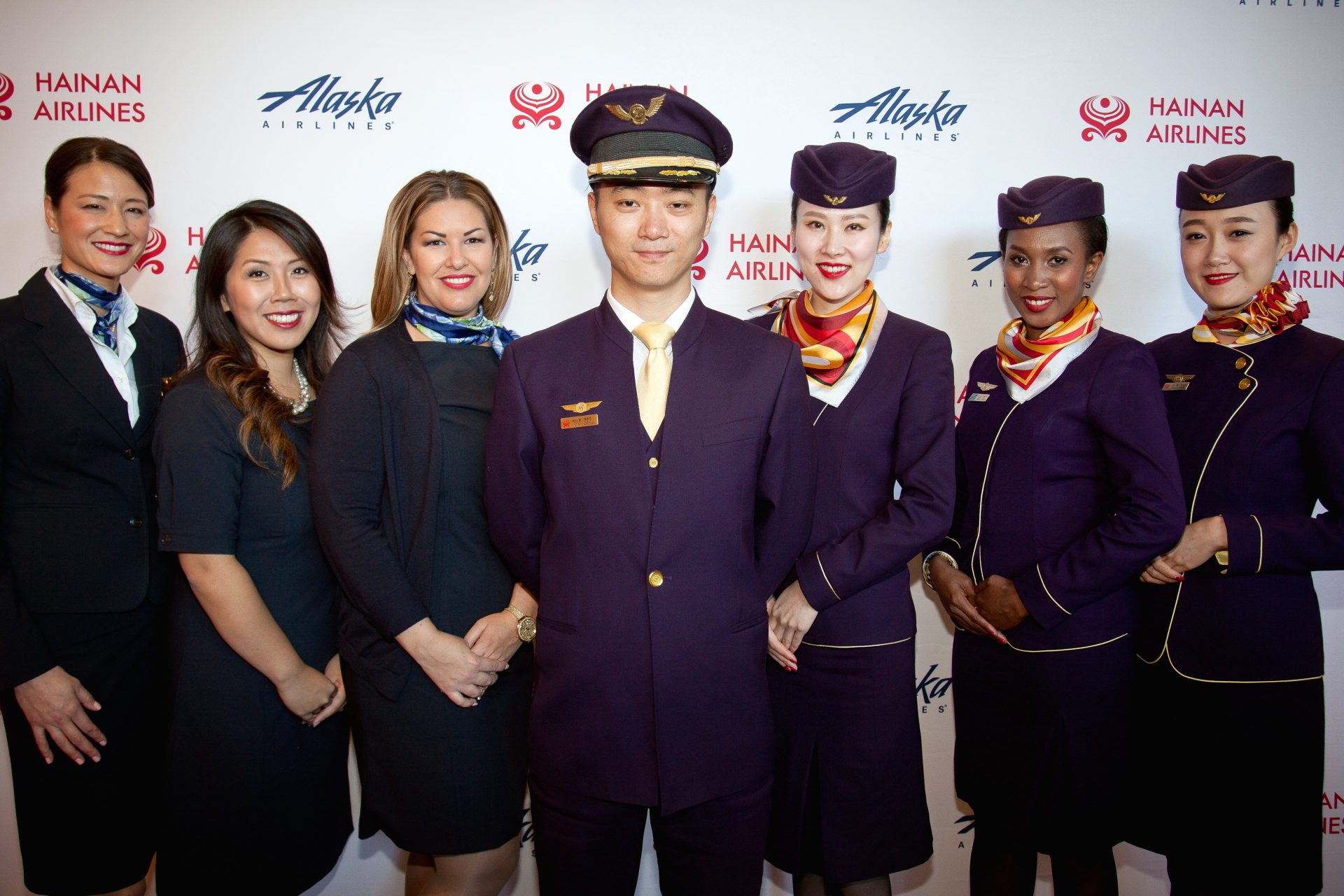 Group shot from the Alaska Airlines and Hainan Airlines Partnership Event